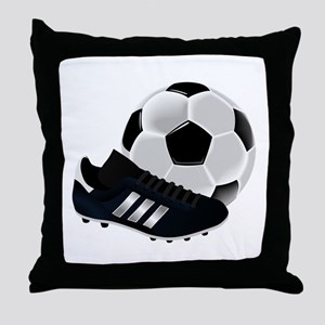 Soccer Ball And Shoes Throw Pillow