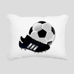 Soccer Ball And Shoes Rectangular Canvas Pillow