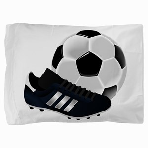 Soccer Ball And Shoes Pillow Sham