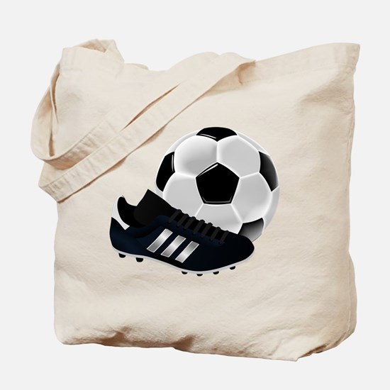 Soccer Ball And Shoes Tote Bag
