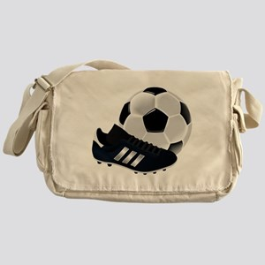Soccer Ball And Shoes Messenger Bag
