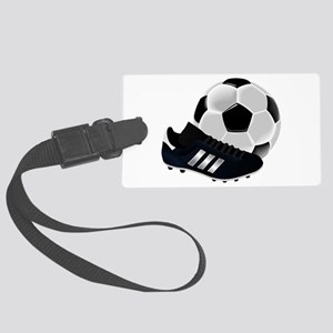 Soccer Ball And Shoes Large Luggage Tag