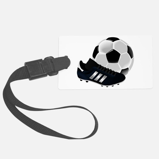Soccer Ball And Shoes Luggage Tag