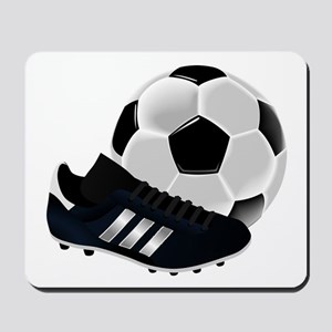 Soccer Ball And Shoes Mousepad