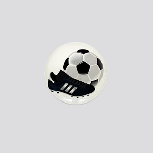 Soccer Ball And Shoes Mini Button