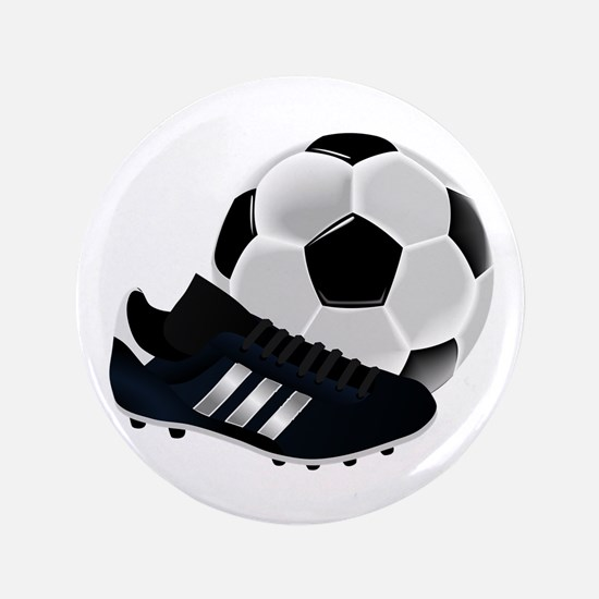 Soccer Ball And Shoes Button