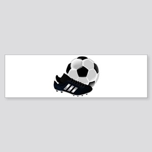 Soccer Ball And Shoes Bumper Sticker