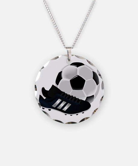 Soccer Ball And Shoes Necklace