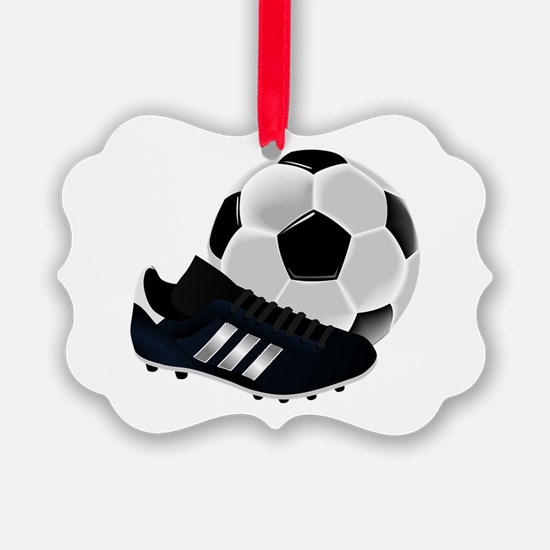 Soccer Ball And Shoes Ornament
