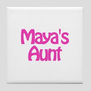Maya's Aunt Tile Coaster