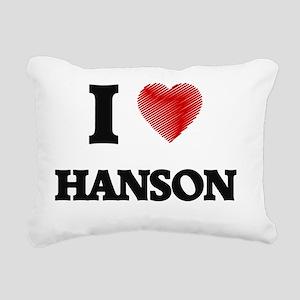 I Love Hanson Rectangular Canvas Pillow