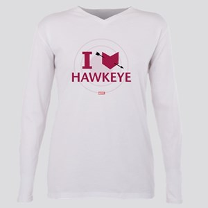 I Heart Hawkeye Variant Plus Size Long Sleeve Tee