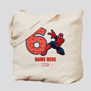 Spider-Man Personalized Birthday 6 Tote Bag