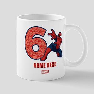 Spider-Man Personalized Birthday 6 Mug