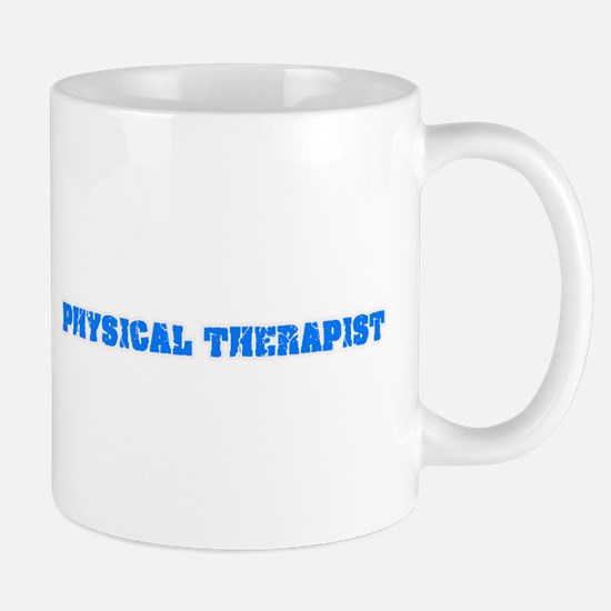 Physical Therapist Blue Bold Design Mugs