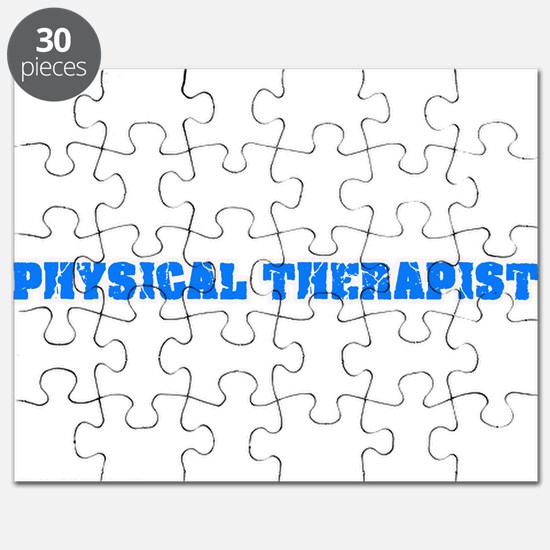 Physical Therapist Blue Bold Design Puzzle