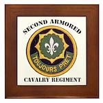 SECOND ARMORED CAVALRY REGIMENT Framed Tile