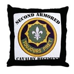 SECOND ARMORED CAVALRY REGIMENT Throw Pillow