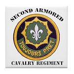 SECOND ARMORED CAVALRY REGIMENT Tile Coaster