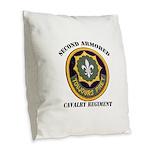 SECOND ARMORED CAVALRY REGIMEN Burlap Throw Pillow