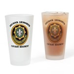 SECOND ARMORED CAVALRY REGIMENT Drinking Glass