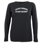 SECOND ARMORED CAVALRY R Plus Size Long Sleeve Tee