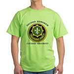 SECOND ARMORED CAVALRY REGIMENT Green T-Shirt