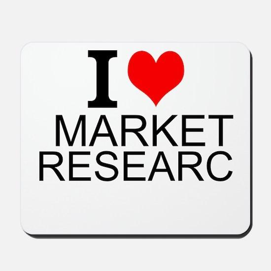 I Love Market Research Mousepad