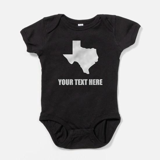 Custom Texas Silhouette Baby Bodysuit