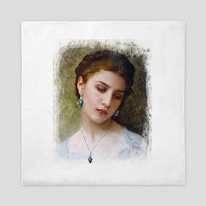 A Woman's beauty Queen Duvet