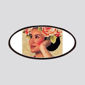 Vintage Illustration Chinese Woman Patch