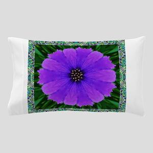 Purple Flower Pinwheel Pillow Case