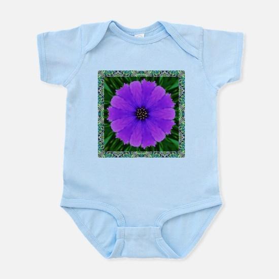 Purple Flower Pinwheel Body Suit