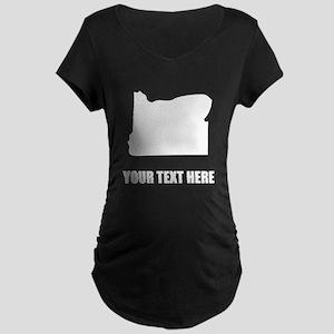 Custom Oregon Silhouette Maternity T-Shirt