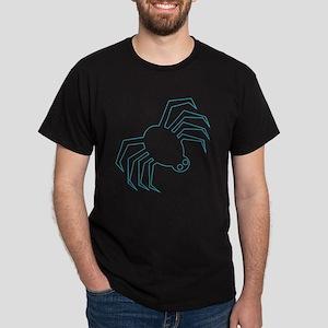 Blue Spider Halloween Dark T-Shirt