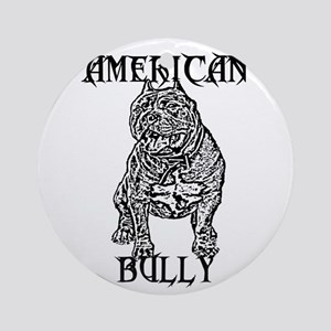 American Bully Round Ornament