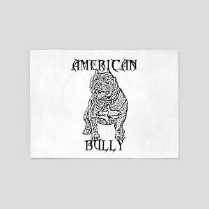 American Bully 5'x7'Area Rug