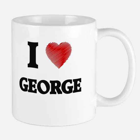 I Love George Mugs