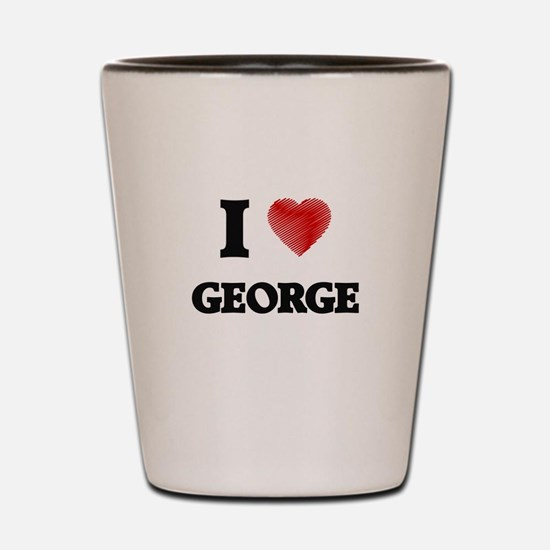 I Love George Shot Glass