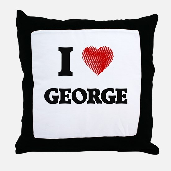 I Love George Throw Pillow