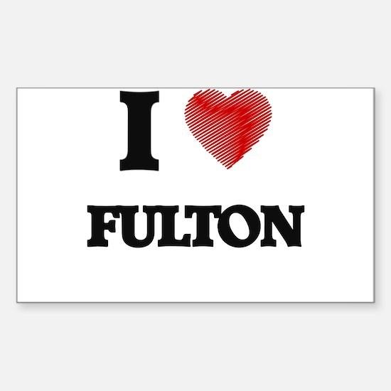 I Love Fulton Decal