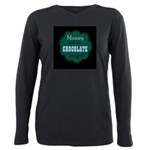 Chocolate Sings Dark Plus Size Long Sleeve Tee