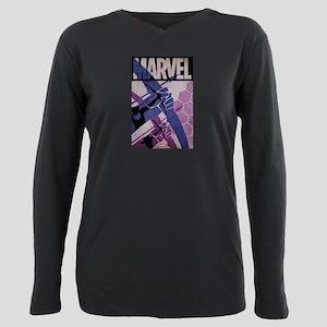 Hawkeye Bows Plus Size Long Sleeve Tee