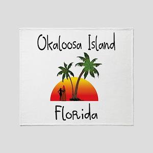 Okaloosa Island Florida Throw Blanket