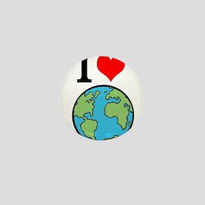 I Love Earth Mini Button