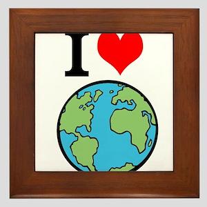 I Love Earth Framed Tile