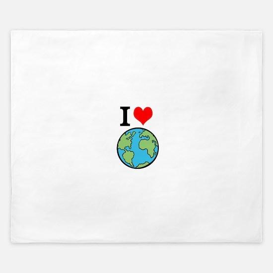 I Love Earth King Duvet