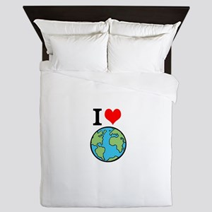 I Love Earth Queen Duvet