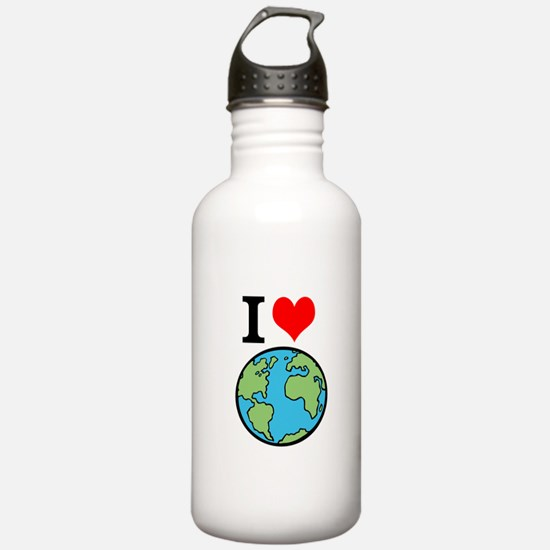 I Love Earth Water Bottle