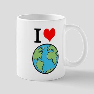 I Love Earth Mugs